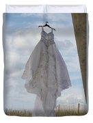 Flying Wedding Dress 4 Duvet Cover