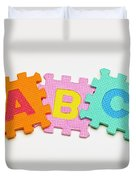 Foam Alphabet Shapes Duvet Cover
