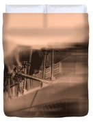 Foam Tank A Fire Engine Number Four Duvet Cover by Bob Orsillo