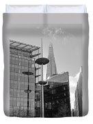 Focus On The Shard London In Black And White Duvet Cover