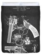 Foehl Revolver Patent Drawing From 1894 - Dark Duvet Cover