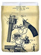 Foehl Revolver Patent Drawing From 1894 - Vintage Duvet Cover