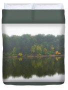 Fog Along The River Duvet Cover