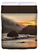 Fog And Fire Duvet Cover by Adam Jewell