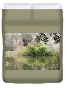 Fog And Reeds Duvet Cover