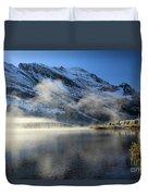 Fog At Swiftcurrent Duvet Cover