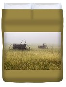 Fog Covered Field Duvet Cover