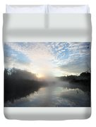 Fog Covered River Duvet Cover