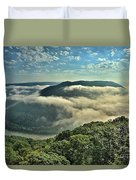 Fog In The Grand View Valley Duvet Cover