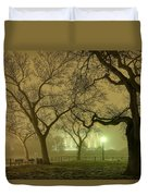 Foggy Approach To The Lincoln Memorial Duvet Cover