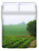 Foggy Bean Field Duvet Cover