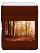 Foggy Beech Forest Duvet Cover