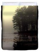 Foggy Bog Sunrise Duvet Cover