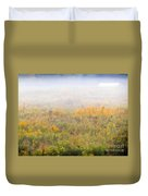 Foggy Country Autumn Morning Duvet Cover