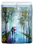 Foggy Day New Duvet Cover by Leonid Afremov