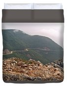 Foggy Day Road Through Cape Breton Highlands Np-ns Duvet Cover