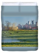 Foggy Farm Morning Duvet Cover