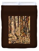 Foggy Forest Edge Duvet Cover