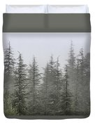 Foggy Forest Retro Series. Duvet Cover