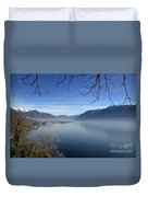 Foggy Lake Duvet Cover