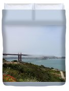 Foggy Morning At The Bay Duvet Cover