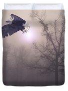Foggy Morning Flight Duvet Cover