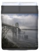 Foggy Morning In Newport Duvet Cover