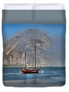 Foggy Morrow Bay Duvet Cover