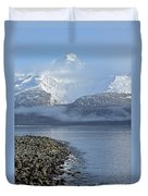 Foggy Mountain Beyond Duvet Cover