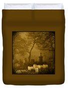 Foggy Necropolis Duvet Cover