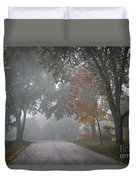 Foggy Street Duvet Cover