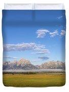 Foggy Sunrise On The Tetons - Grand Teton National Park Wyoming Duvet Cover