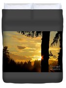 Backyard Sunset Duvet Cover