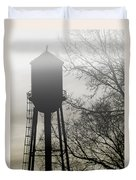 Foggy Tower Silhouette Duvet Cover