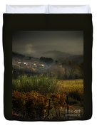 Foggy Tuscan Valley  Duvet Cover