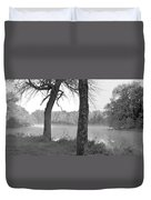 Foggy Waters Bw Duvet Cover