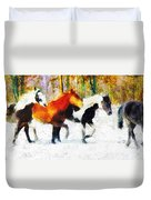 Follow The Leader Duvet Cover
