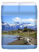 Following The Athabasca River Duvet Cover