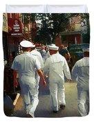 Following The Fleet Duvet Cover