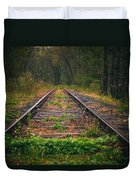 Following The Tracks Duvet Cover
