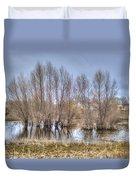 Folsom Dried Pond  Duvet Cover