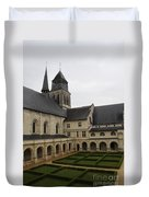 Fontevraud Abbey Courtyard -  France Duvet Cover