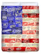 Food Advertising Flag Duvet Cover by Gary Grayson