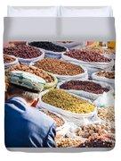 Food At Local Bazaar - Kashgar - China Duvet Cover