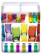Food Coloring Ensemble Wide-rainbow Theme Duvet Cover