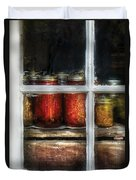 Food - Country Preserves  Duvet Cover by Mike Savad