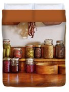 Food - I Love Preserving Things Duvet Cover by Mike Savad