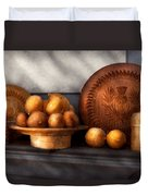 Food - Lemons - Winter Spice  Duvet Cover by Mike Savad