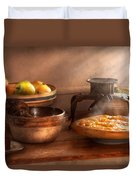 Food - Pie - Mama's Peach Pie Duvet Cover