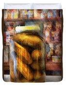 Food - Vegetable - A Jar Of Pickles Duvet Cover